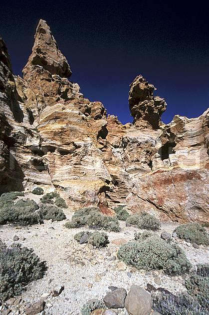 ea2681-04LE : Tenerife, Iles Canaries.  Europe, CEE, pic, ciel bleu, C02, C01 désert, paysage, voyage aventure (Canaries).