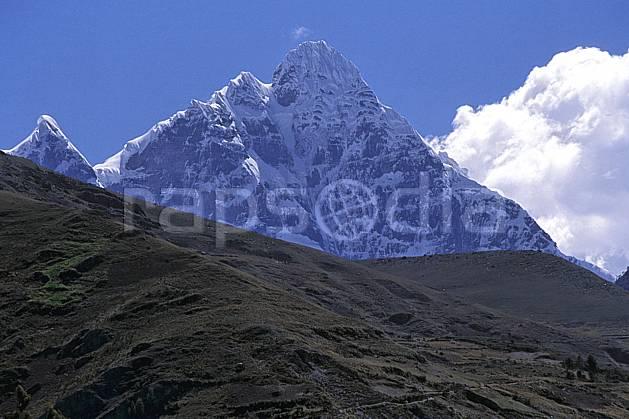 ea2711-18LE : Le Huantsan.  Amérique du sud, Amérique Latine, ciel bleu, falaise, C02, C01 paysage, voyage aventure (Pérou).