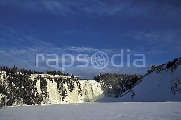 ea3112-03LE : Chute de Montmorency en hiver.  Amérique du nord, Amérique, falaise, cascade de glace, C02, C01 cascade, paysage, voyage aventure (Canada Québec).