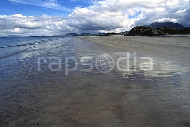 ea3174-19LE : Paysage d'Irlande.  Europe, CEE, plage, C02, C01 mer, nuage, paysage, voyage aventure (Irlande).
