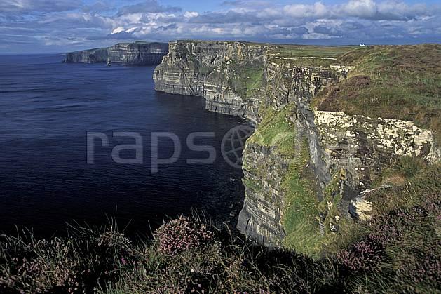 ea3177-06LE : Paysage d'Irlande, Cliffs of Moher.  Europe, CEE, falaise, C02, C01 flore, mer, paysage, voyage aventure (Irlande).