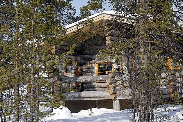 ee061269LE : Chalet en rondins à Kakslauttanen, Laponie.  Europe, CEE, cabane, cabane, C02, C01 environnement, habitation, voyage aventure (Finlande).