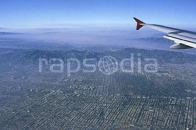 ee0641-14LE : Ville de Los Angeles, California.  Amérique du nord, avion, ciel bleu, vue aérienne, C02, C01 environnement, habitation, paysage, transport, voyage aventure (Usa).