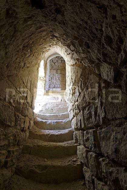 ee070415LE : Escalier dans la forteresse le krak de Moab à Al-Karak.  Moyen Orient, C02 désert, environnement, patrimoine, voyage aventure (Jordanie).