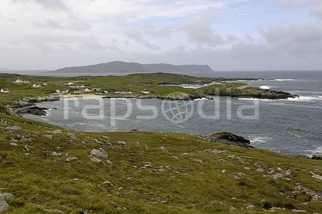 ee071987LE : Fanad Head, Donegal.  Europe, CEE, plage, littoral, C02 environnement, habitation, mer, paysage, voyage aventure (Irlande).