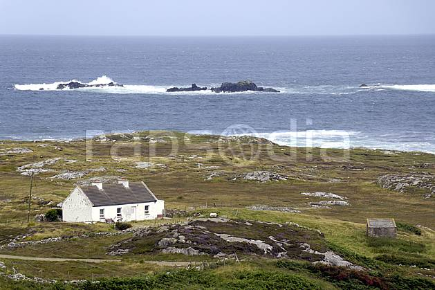 ee071990LE : Fanad Head, Donegal.  Europe, CEE, ferme, littoral, C02 environnement, habitation, mer, paysage, voyage aventure (Irlande).