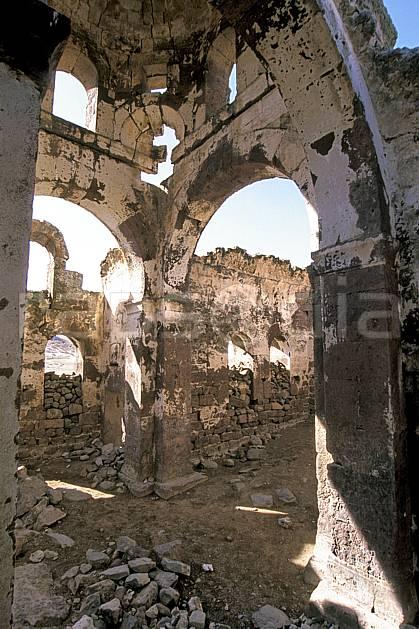 ee2641-21LE : Anatolie Centrale, Cappadoce.  Europe, ruine, église, C02, C01 environnement, habitation, patrimoine, voyage aventure (Turquie).