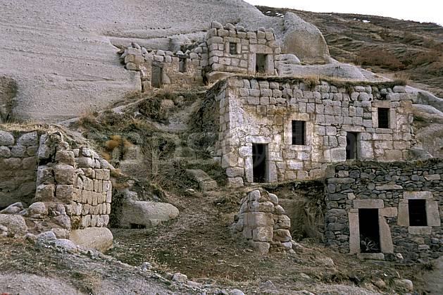 ee2644-09LE : Anatolie Centrale, Cappadoce.  Europe, ruine, C02, C01 environnement, habitation, patrimoine, voyage aventure (Turquie).