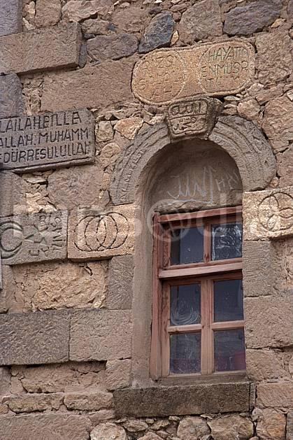 ee2646-10LE : Fenêtre, Anatolie Centrale, Cappadoce.  Europe, C02, C01 environnement, habitation, voyage aventure (Turquie).