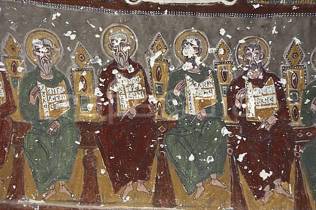 ee2646-36LE : Peinture murale, Anatolie Centrale, Cappadoce.  Europe, folklore, temple, tradition, C02, C01 environnement, patrimoine, voyage aventure (Turquie).