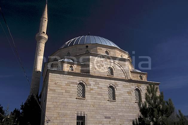 ee2653-04LE : Anatolie Centrale, Cappadoce.  Europe, ciel bleu, mosquée, C02, C01 environnement, voyage aventure (Turquie).