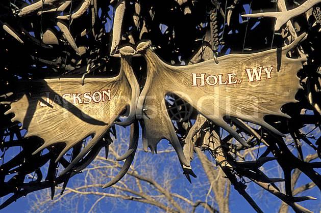 ee2947-06LE : Jackson, Wyoming.  Amérique du nord, ciel bleu, panneau, C02, C01 environnement, voyage aventure (Usa).