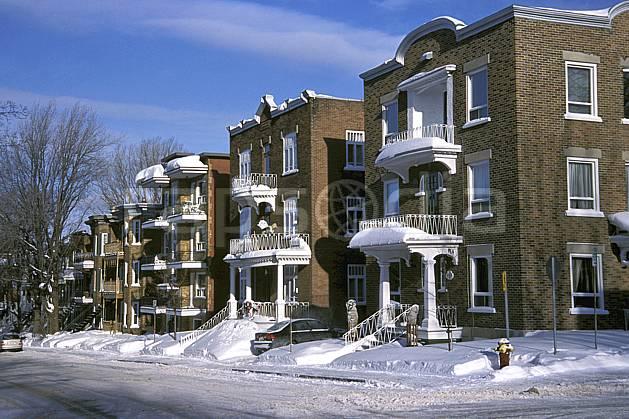 ee3108-33LE : Quartier à Québec.  Amérique du nord, Amérique, immeuble, rue, ville, route, building, enneigé, C02, C01 environnement, habitation, voyage aventure (Canada Québec).