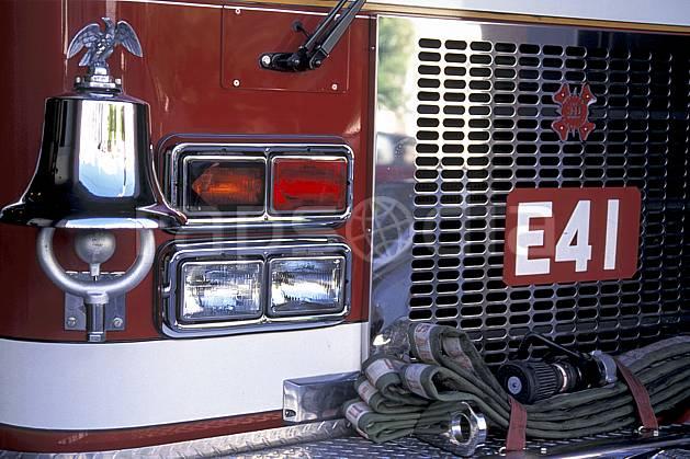 ef0678-15LE : Camion de pompiers, San Francisco, Californie.  Amérique du nord, bus, camion, C02, C01 transport, voyage aventure (Usa).