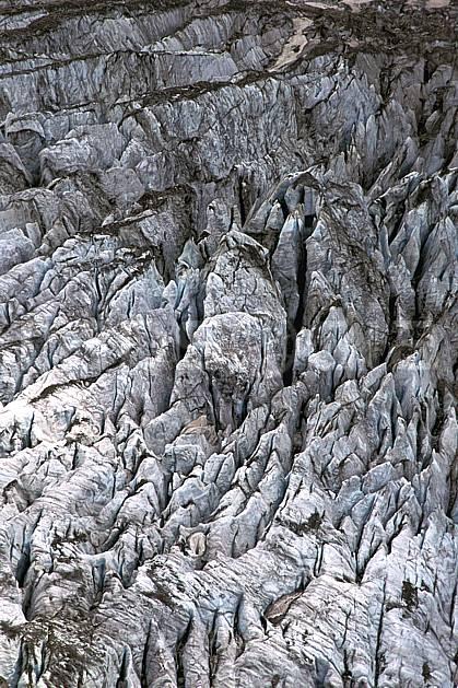 fa2505-35LE : Glacier de Tré la Tête, Massif du Mont Blanc, Haute-Savoie.  Europe, CEE, glacier, C02, C01 textures et fonds, Annecy 2018 (France).