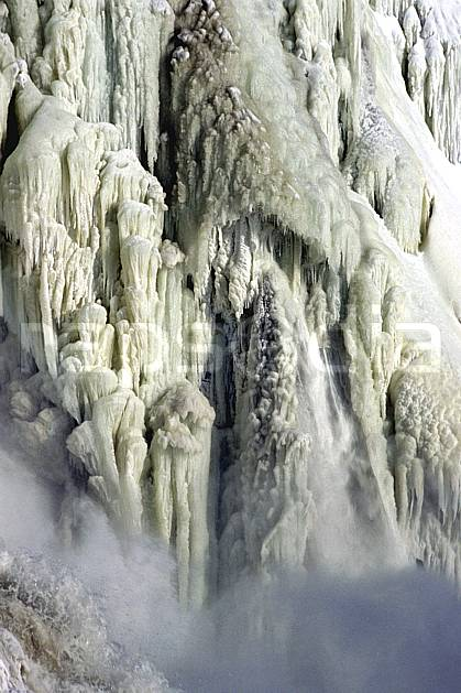 fa3113-07LE : Chute de Montmorency en hiver.  Amérique du nord, Amérique, cascade de glace, C02, C01 textures et fonds, voyage aventure (Canada Québec).