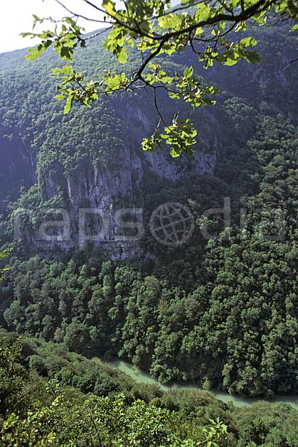 fc2224-04LE royalty free val de fier, haute-savoie, Europe, EEC, tree, forest, middle mountain, landscape, river, Annecy 2018 (France).