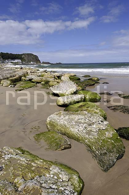 ha071881LE : Plage de White Park Bay, Portbraddan, Ulster (Irlande du Nord).  Europe, CEE, plage, littoral, C02 mer, paysage (Irlande Royaume-Uni).