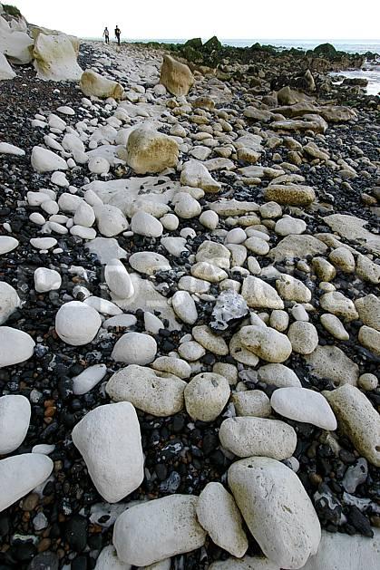 hb040034LE : Galets de craie. Douvres.  Europe, CEE, galet, plage, pierre, C02, C01 mer (Royaume-Uni).