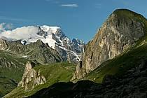 Combe de la Neuva et massif du Mont Blanc, Beaufortain, Savoie, ref aa041226GE