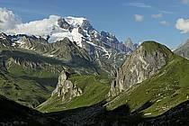 Combe de la Neuva et massif du Mont Blanc, Beaufortain, Savoie, ref aa041231GE