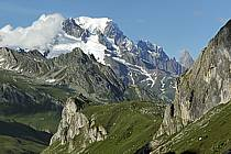 Combe de la Neuva and massif of Mont-Blanc, Beaufortain, Savoie, Alpes, ref aa041234GE