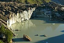 Depuis le Col Checrouit, lac glaciaire, Alpes, ref aa042110LE