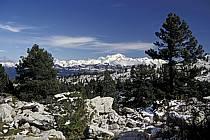Mont Blanc et Chaine des Aravis depuis le Parmelan, Haute-Savoie, Alpes, ref aa0479-11LE