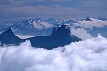 Les Dents de Lanfon depuis le Parmelan, Haute-Savoie, ref aa0479-12GE