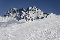Avoriaz, vue sur les Dents du Midi, Haute-Savoie, Alpes, ref aa061062LE