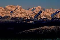Tournette, Mont-Blanc from the Semnoz, Haute-Savoie, Alpes, ref aa2107-10GE