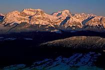Tournette, Mont Blanc depuis le Semnoz, Haute-Savoie, ref aa2107-14GE