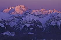 Mont-Blanc from the Semnoz, Haute-Savoie, Alpes, ref aa2108-30GE