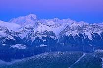 La Beccaz, Crêt des Mouches, Mont-Blanc from the Semnoz, Haute-Savoie, Alpes, ref aa2109-13GE