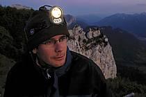 Lampe frontale, Dents de Lanfon, Haute-Savoie, ref ab055108GE