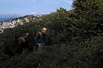 Lampe frontale, Dents de Lanfon, Haute-Savoie, ref ab055115GE