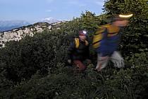 Lampe frontale, Dents de Lanfon, Haute-Savoie, ref ab055118GE