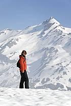 Mont Ouille au-dessus du col du Petit Saint Bernard, Alpes Grées, ref ab062117GE