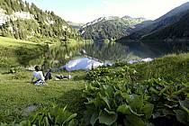Lac de Saint Guérin, Beaufortain, Alpes, ref ab071495LE