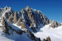Envers du Tacul, Massif du Mont Blanc, Haute-Savoie, Alpes, ref ba050859LE