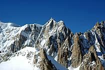 Mont Maudit, Pointe de l'Androsace, Grand Capucin, Massif du Mont Blanc, Alpes, ref ba050861LE
