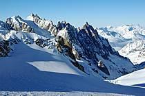 Aiguilles de Chamonix et glacier du Géant, Massif du Mont Blanc, Alpes, ref ba050862LE