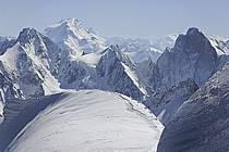 Depuis le Col du Plan, aiguille de Leschaux, Jorasses, Mont Dolent, Massif du Mont Blanc, Haute-Savoie, ref ba061194GE