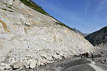 Glacier de la Mer de Glace, Chamonix, Haute-Savoie, Alpes, ref bb062783LE