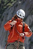 Marche sur glacier, encordement, Haute-Savoie, ref bb062833GE
