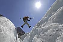 Crevasse, Mer de Glace, Chamonix, Haute-Savoie, Alpes, ref bb062869GE
