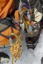 Baudrier, mousquetons, anneaux de corde, Alpes, ref bb062907LE