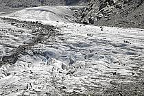 Marche sur glacier, Mer de Glace, Chamonix, Haute-Savoie, ref bb062924GE