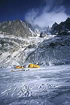 Bivouac sur la Mer de Glace, Massif du Mont Blanc, Haute-Savoie, ref bb2801-06GE