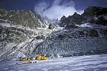Bivouac, Mer de Glace, Massif of Mont-Blanc, Haute-Savoie, Alpes, ref bb2801-07GE